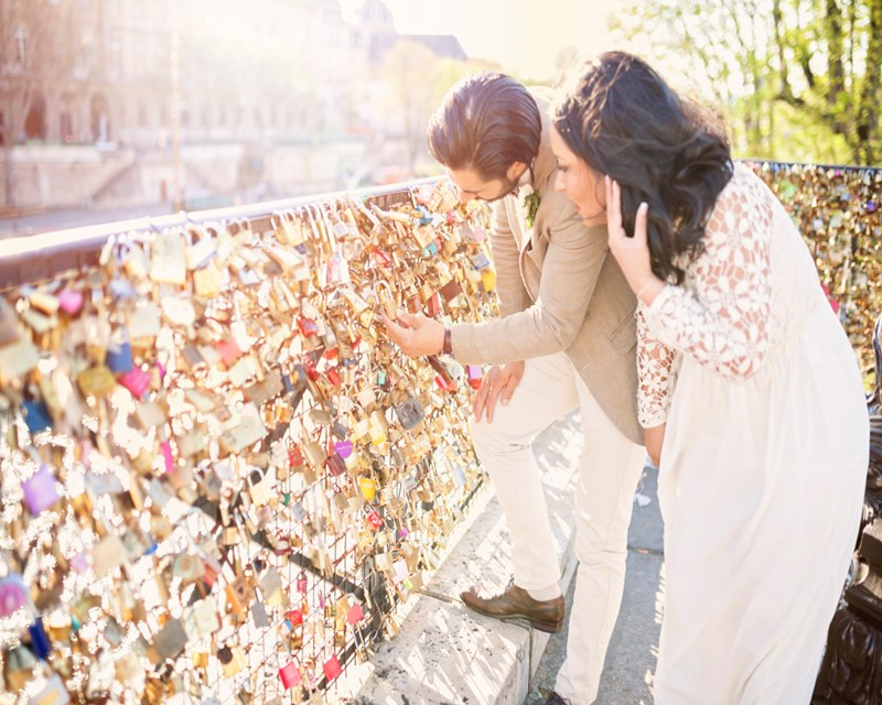 Lock of love - vigsel i Paris